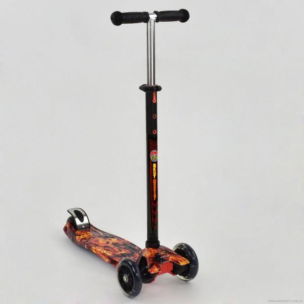 """Самокат А 24661 /779-1310 MAXI """"Best Scooter"""" (8) 4 колеса PU. СВЕТ, d=12см"""