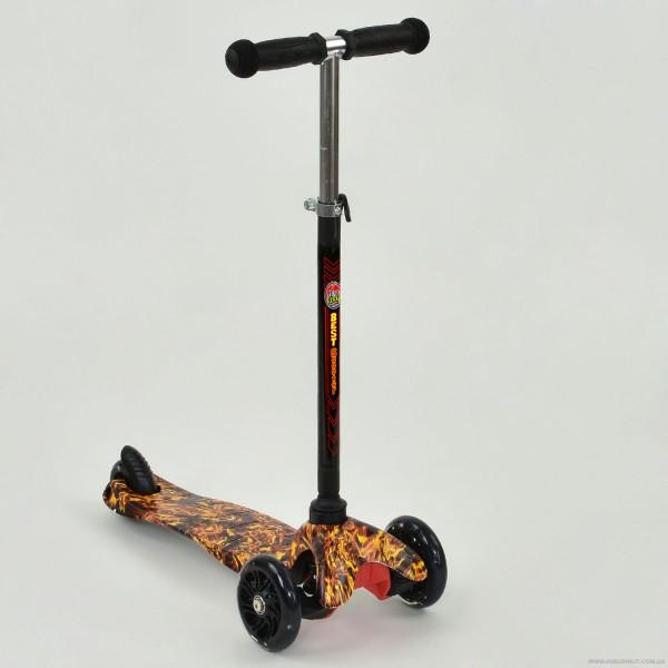 """Самокат А 24692 /779-1299 MINI """"Best Scooter"""" (8) 3 колеса свет, PU, трубка руля алюминиевая, в коробке"""