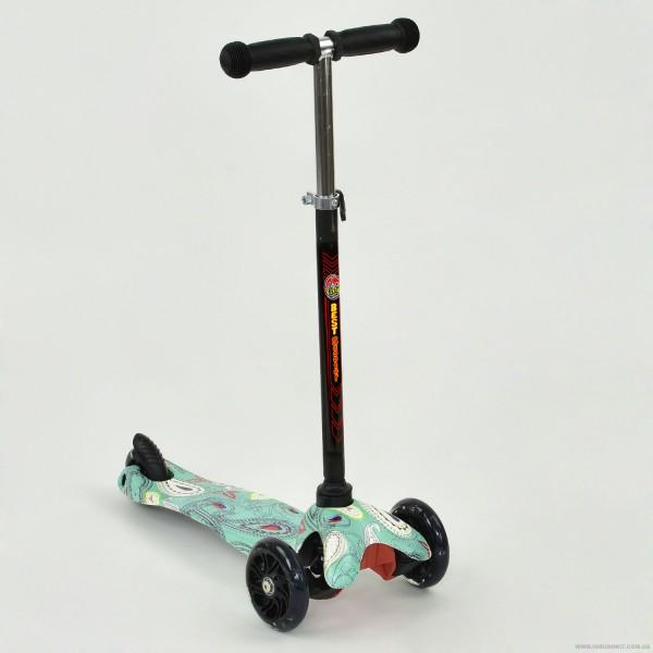 """Самокат А 24695 /779-1206 MINI """"Best Scooter"""" (8) 3 колеса свет, PU, трубка руля алюминиевая, в коробке"""