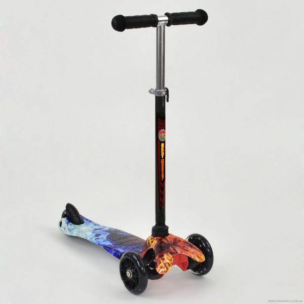 """Самокат А 24697 /779-1297 MINI """"Best Scooter"""" (8) 3 колеса свет, PU, трубка руля алюминиевая, в коробке"""
