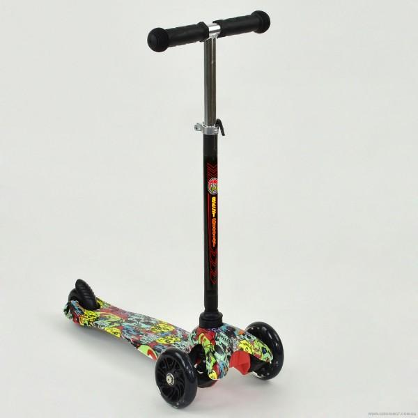"""Самокат А 24709 /779-1233 MINI """"Best Scooter"""" (8) 3 колеса свет, PU, трубка руля алюминиевая, в коробке"""