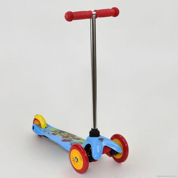 """Самокат ТК 10001 """"Щенячий Патруль"""" (10) колёса PVC, переднее колесо d=12см, заднее d=9см"""