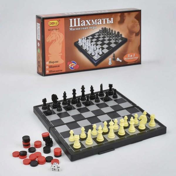 Шахматы магнитные 3в1 8188-2 (401148)