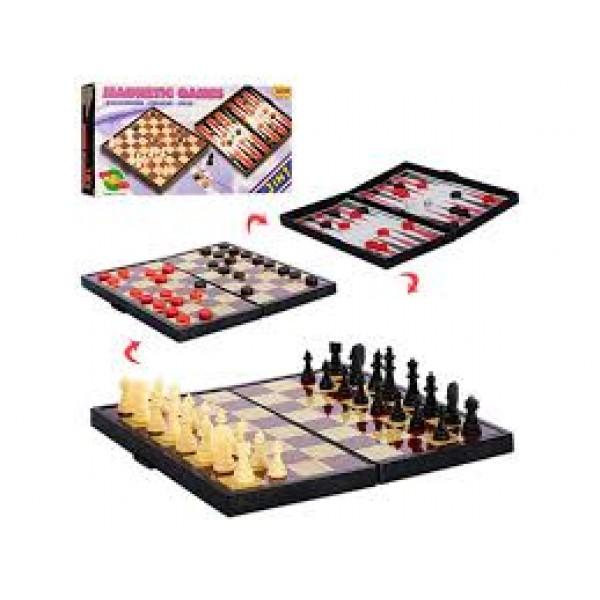 Шахматы магнитные 3в1 9831