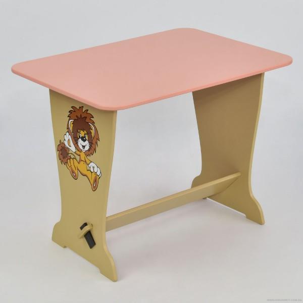 """Стол - парта 6234 """"Лев"""" - цвет розовый (1) """"МАСЯ"""""""