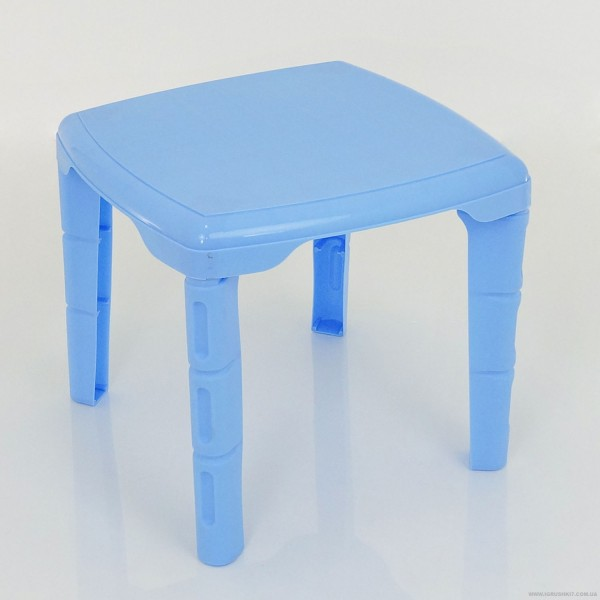 """Стол детский квадратный (10) - цвет голубой """"K-PLAST"""""""