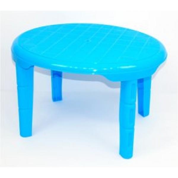 """Стол детский овальный (1) - цвет синий """"K-PLAST"""""""