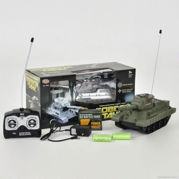 Танк 9342 (24/2) р/у, 2 цвета, стреляет пулями, на аккум. 4.8V, в коробке