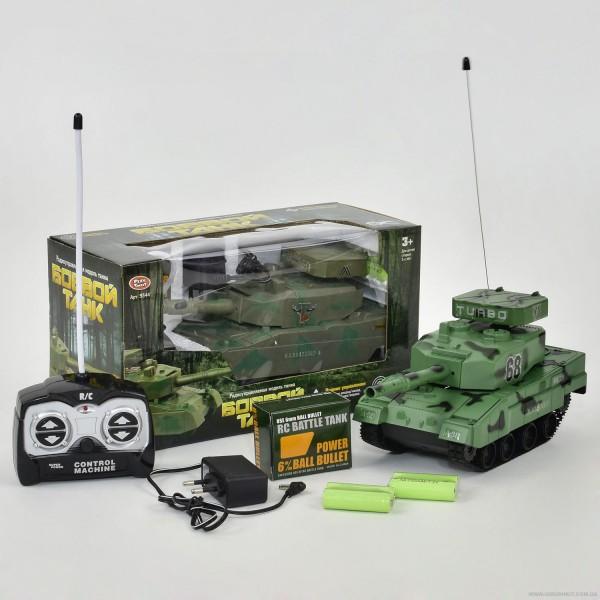 Танк 9344 (36/3) р/у, 2 цвета, стреляет пулями, на аккум. 4.8V, в коробке