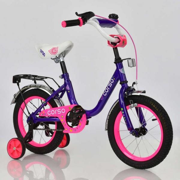"""Велосипед 14"""" дюймов 2-х колёсный С14230 """"CORSO"""" (1)"""