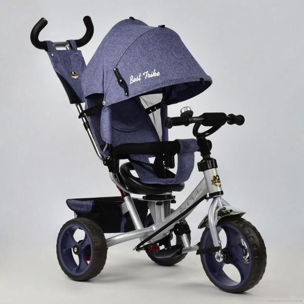 Велосипед 3-х колёс. 5700 - 3760 /ДЖИНС СИНИЙ/ Best Trike (1)