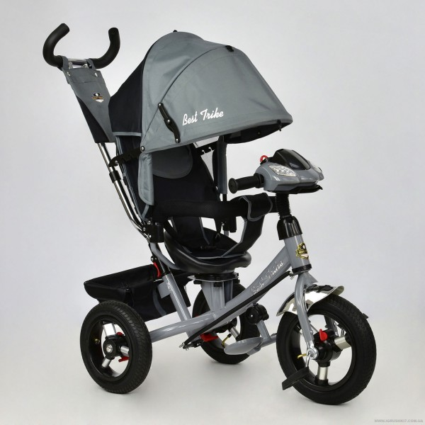 Велосипед 3-х колёс. 7700 В - 6230 /СЕРЫЙ/ Best Trike (1)