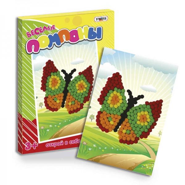 """Веселые помпоны """"Бабочка"""" 1016 (24) """"STRATEG"""""""