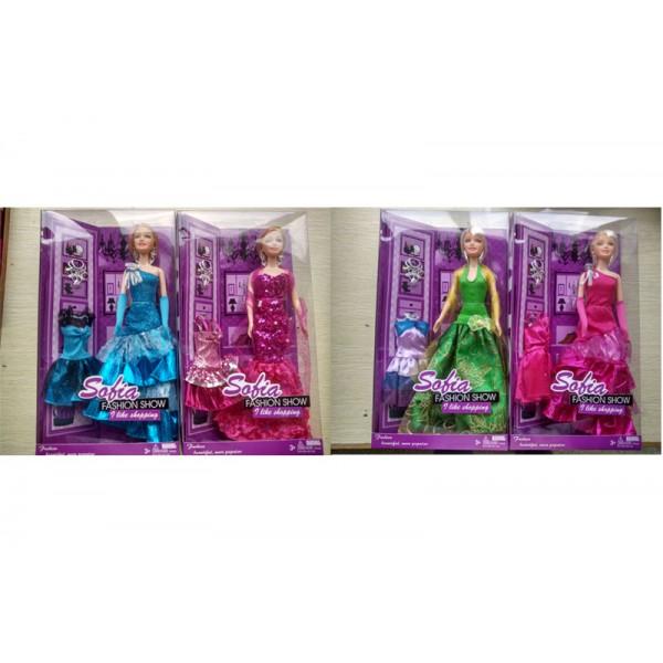 """Кукла типа """"Барби""""  (7720) 4 вида,в кор. 32*18*6см"""