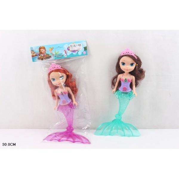 """Кукла """"S-русалка""""  (811D) 2 вида,муз,свет, в пак. 30 см"""
