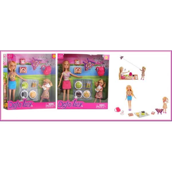 """Кукла """"Defa Lucy""""  (8282) 2 вида,с куколкой,набором для пикника,в кор.25,5*25*5см"""