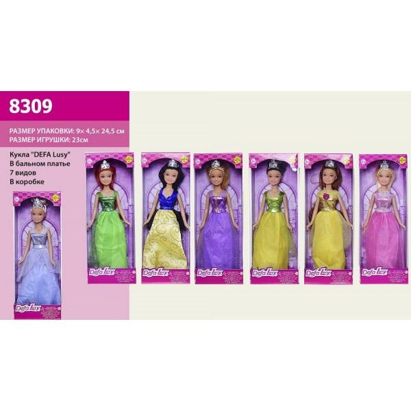 """Кукла """"Defa Lucy""""  (8309) 7 видов, в бальном платье, в кор.9*4,5*24,5 см"""