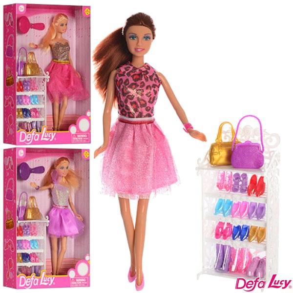 "Кукла ""Defa Lucy""  (8316) 3 вида, с набором обуви,сумка,расч,в кор.21*31,5*6см"