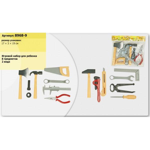Набор инструментов  (8968-9) клещи, пила, молоток, в пакете 17*3*19см
