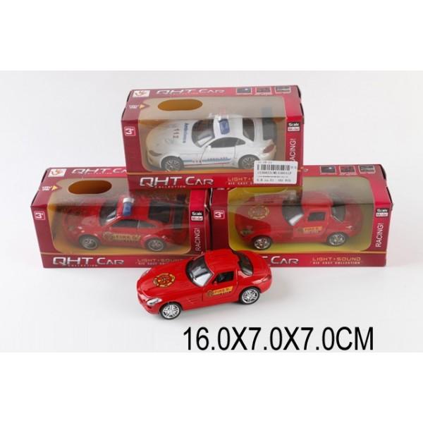 Машина металл ML53601LF(1530823) (М1:32,свет,звук,pull back,3цвета,в коробке 16*7*7см)