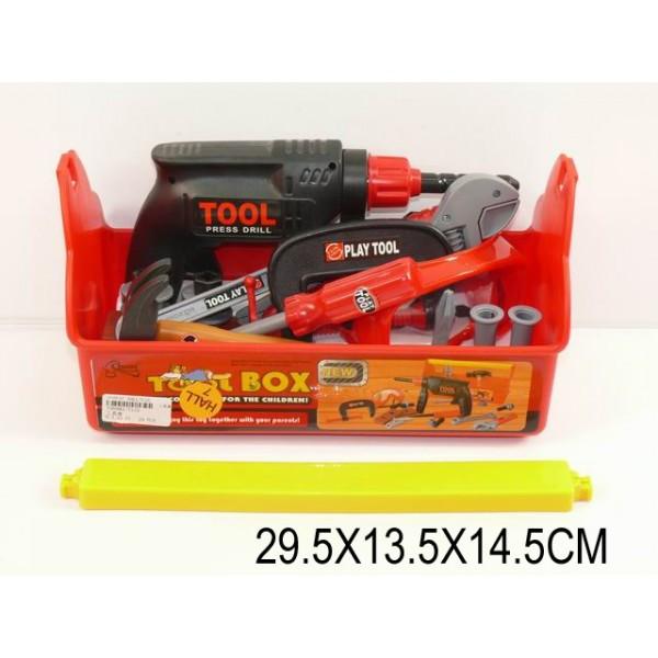 Набор инструментов  (706983) (T115) дрель, молоток, ключ, линейка, в чемодане 29,5*13,5*14,5см