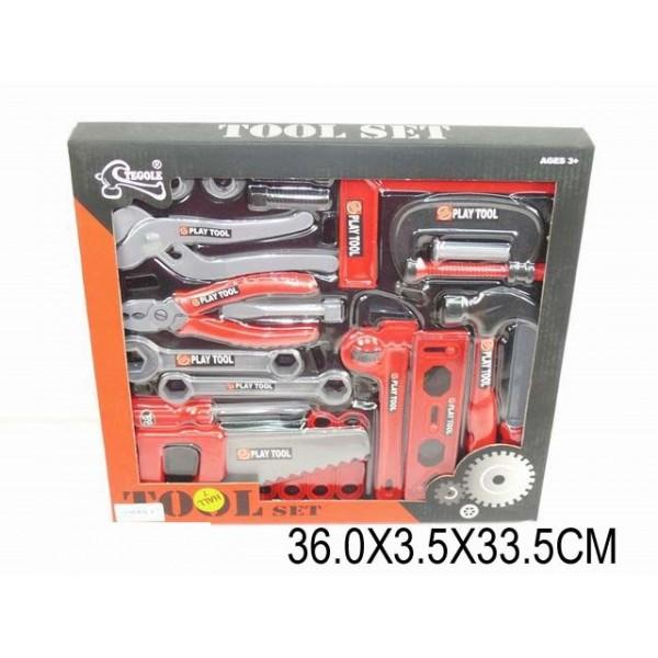 Набор инструментов  (925182) (T218G) отвертка, молоток, пила, плоскогубцы, в кор. 36*3,5*33,5см