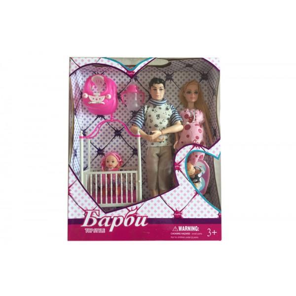 "Кукла типа Барби""Семья"" (180022B) (36шт/2)"