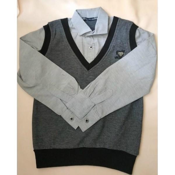 Обманка (рубашка-жилетка) ZB-9226