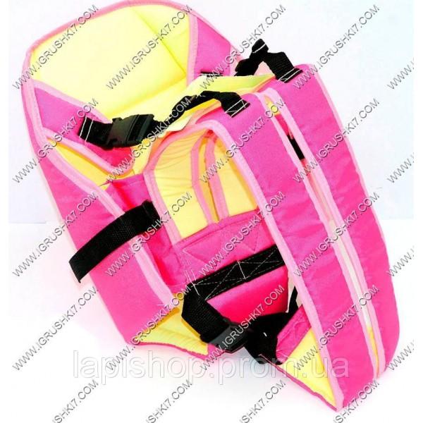 Рюкзак-кенгуру №6 (1) сидя, цвет малиновый.