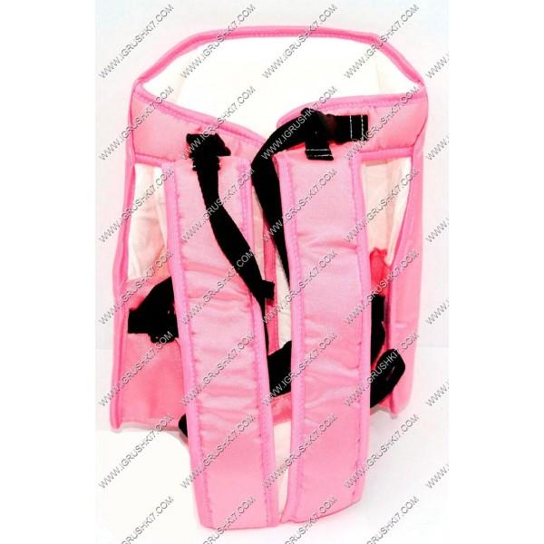 Рюкзак-кенгуру №6 (1) сидя, цвет розовый