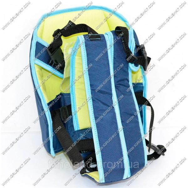 Рюкзак-кенгуру №6 (1) сидя, цвет синий