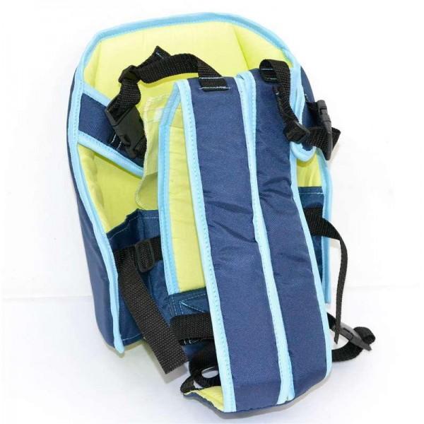 Рюкзак-кенгуру №6 (1) сидя, цвет темно-синий