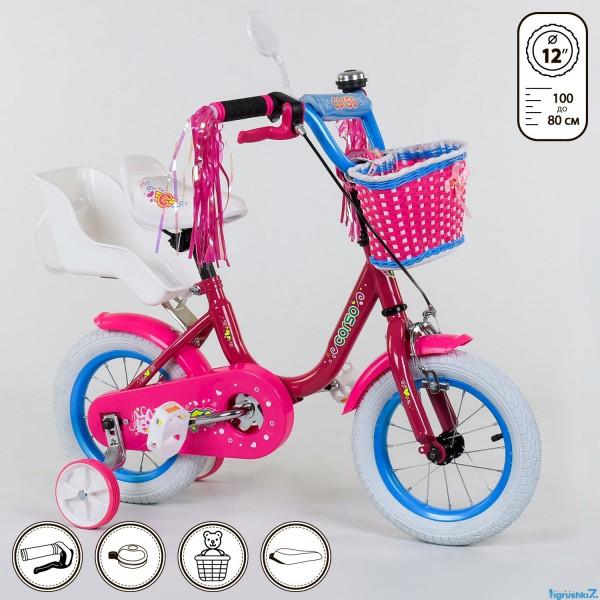 """Велосипед 12 """"дюймов 2-х колёсный 1247 """"CORSO"""" (1)"""