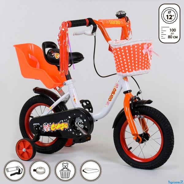"""Велосипед 12"""" дюймов 2-х колёсный 1285 """"CORSO"""" (1)"""
