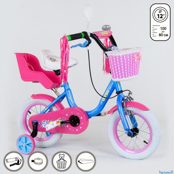 """Велосипед 12"""" дюймов 2-х колёсный 1291 (1) """"CORSO"""" (1)"""