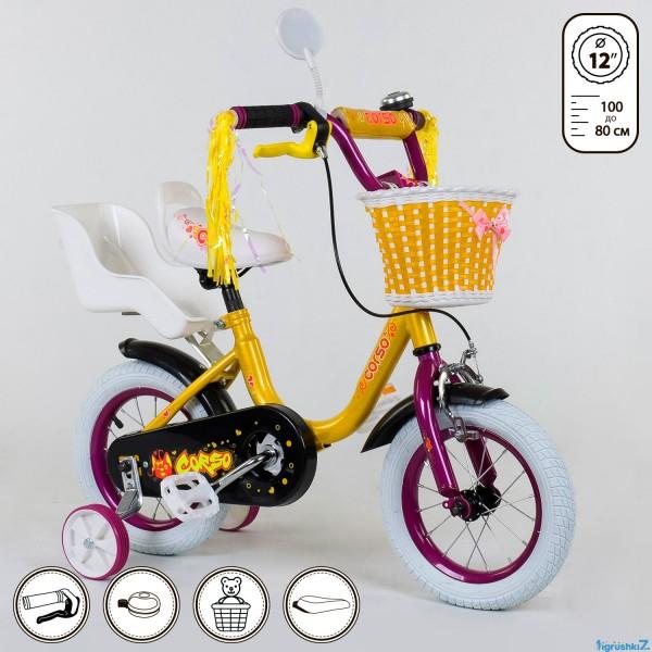 """Велосипед 12"""" дюймов 2-х колёсный 1292 """"CORSO"""" (1)"""