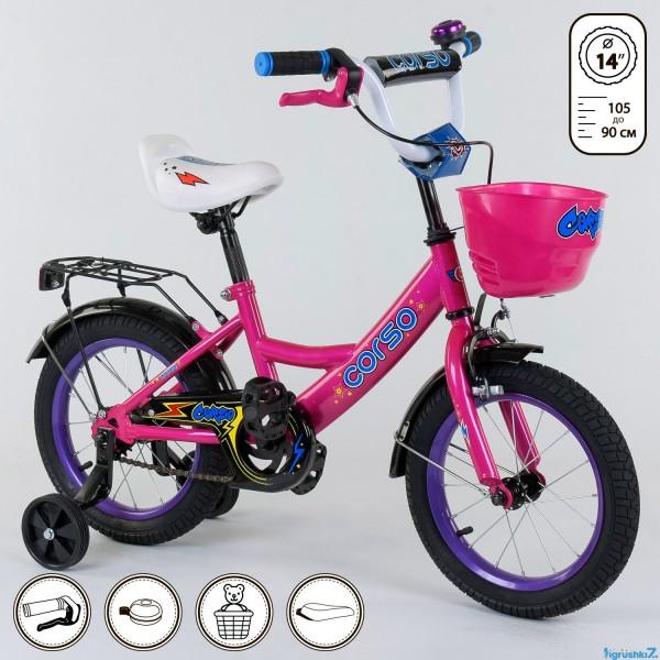 """Велосипед 14"""" дюймов 2-х колёсный G-14278 """"CORSO"""" (1)"""