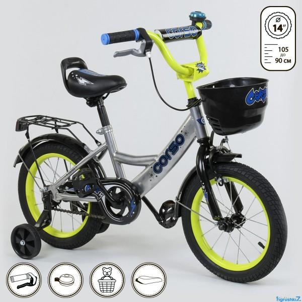 """Велосипед 14"""" дюймов 2-х колёсный G-14590 """"CORSO"""" (1)"""