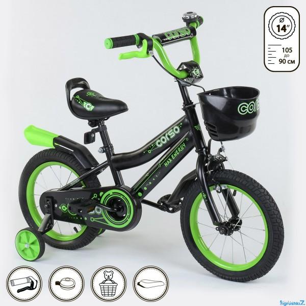 """Велосипед 14 """"дюймов 2-х колёсный R - 14922"""" CORSO"""" (1)"""