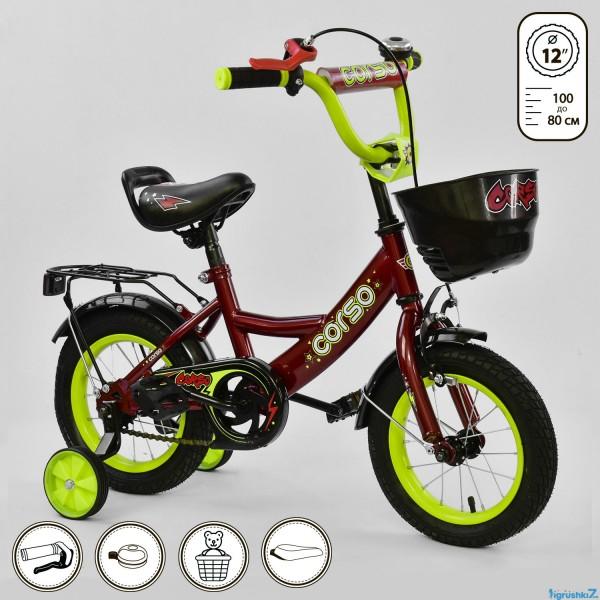 """Велосипед 12 """"дюймов 2-х колёсный G-12041"""" CORSO"""" (1)"""