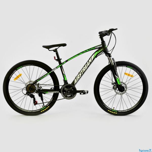 """Велосипед Спортивный CORSO AIRSTREAM 26"""" дюймов JYT 002 - 8047 BLACK-GREEN (1)"""