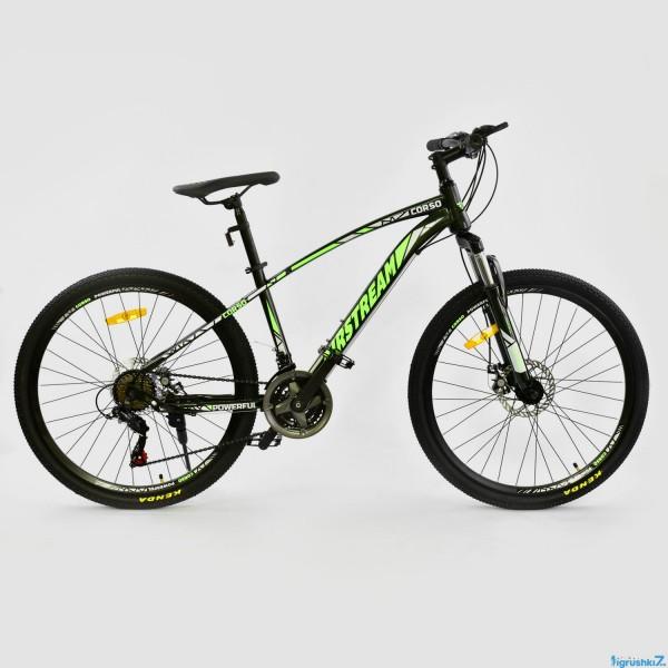 """Велосипед Спортивный CORSO AIRSTREAM 26""""дюймов JYT 002 - 8099 BLACK-GREEN (1)"""