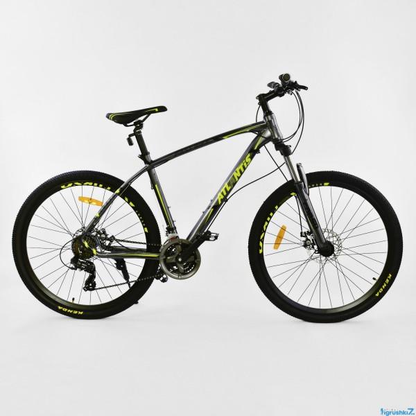 """Велосипед Спортивный CORSO ATLANTIS 27,5""""дюйма JYT 008 - 7266 GREY-YELLOW (1)"""
