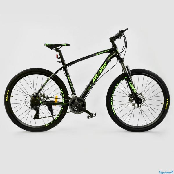 """Велосипед Спортивный CORSO ATLANTIS 27,5""""дюйма JYT 008 - 7357 BLACK-GREEN (1)"""