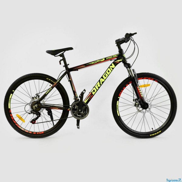 "Велосипед Спортивный CORSO DRAGON 26""дюймов JYT 010 - 1074 BLACK-YELLOW (1)"