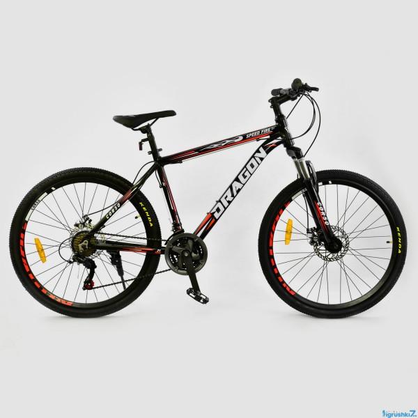 """Велосипед Спортивный CORSO DRAGON 26""""дюймов JYT 010 - 7791 BLACK-RED (1)"""