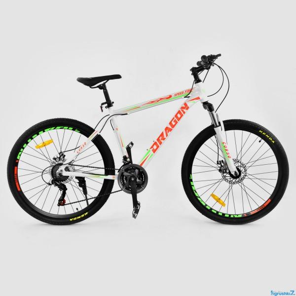 "Велосипед Спортивный CORSO DRAGON 26""дюймов JYT 010 - 8288 WHITE-ORANGE (1)"